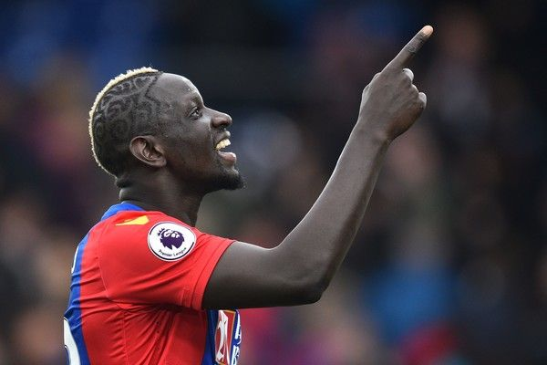 Crystal Palace's French midfielder Mamadou Sakho gestures as he celebrates on the pitch after the English Premier League football match between Crystal Palace and Watford at Selhurst Park in south London on March 18, 2017..Crystal Palace won the game 1-0. / AFP PHOTO / Glyn KIRK / RESTRICTED TO EDITORIAL USE. No use with unauthorized audio, video, data, fixture lists, club/league logos or 'live' services. Online in-match use limited to 75 images, no video emulation. No use in betting, games…