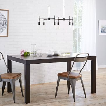 Parsons Expandable Dining Table #westelm [$799] doubles in size - want this!