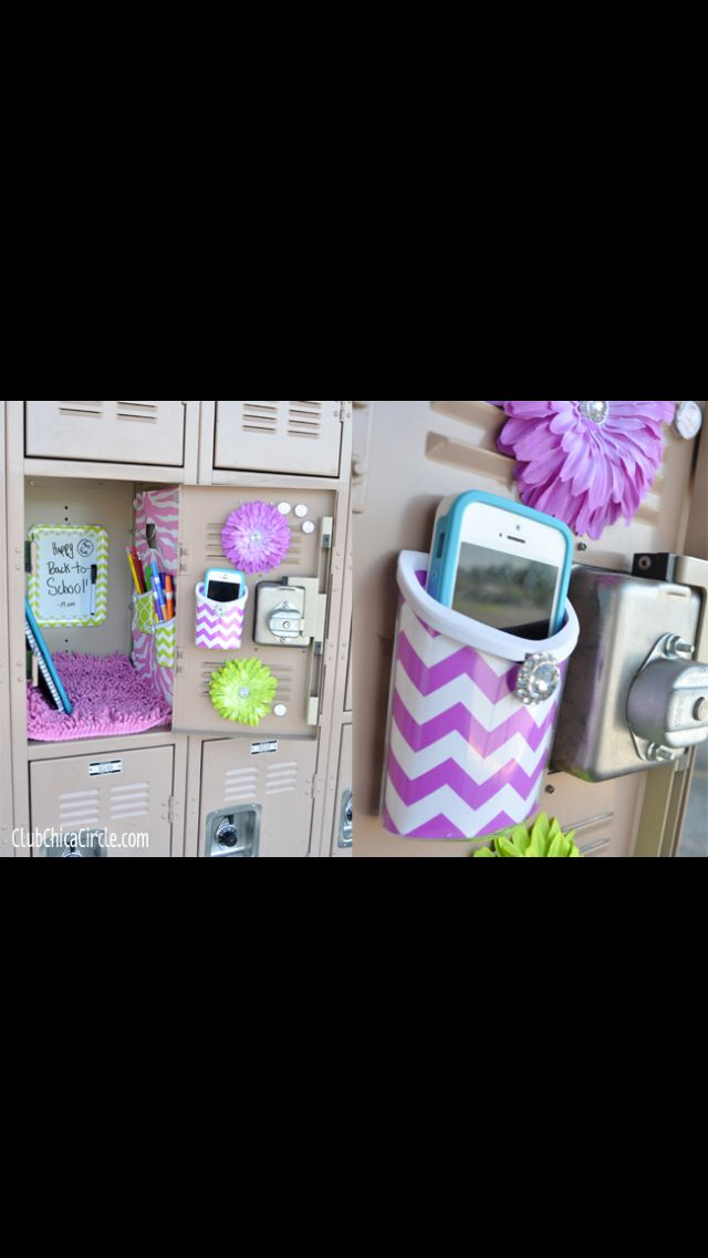 Cute locker decor with small locker