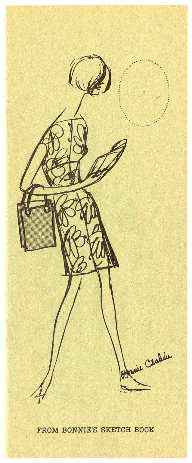 From Bonnie's sketchbook: a 1966 original by first Coach creative director, Bonnie Cashin.