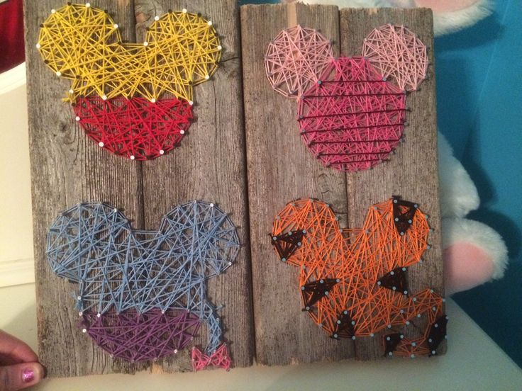 disney characters w/ mickey template string art