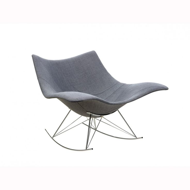 Furniture Comfortable and Charming Modern Rocking Chair: Grey Stringray Modern Rocking Chair Designed By Thomas Pedersen