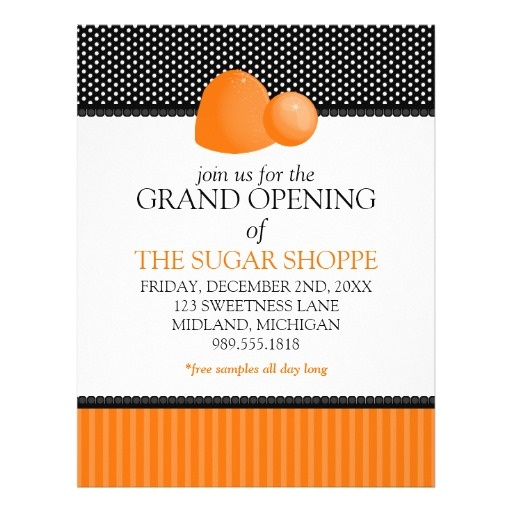 candy shop grand opening announcement flyers grand opening flyer