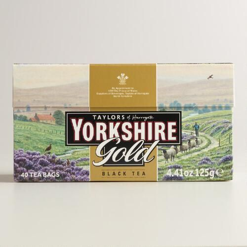 One of my favorite discoveries at WorldMarket.com: Yorkshire Gold Tea, Set of 5