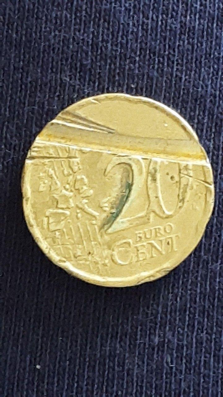 Multiple Error S 1999 Rf 20 Cent Euro Coin Monedas