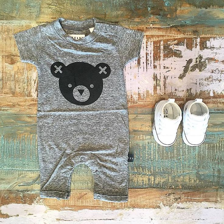 RESTOCK • We've just restocked heaps of Huxbaby SS15 faves including this adorable hux bear romper! Shop the collection plus our range of Converse baby & kids Chucks at Tiny Style in Noosa & online •  www.tinystyle.com.au