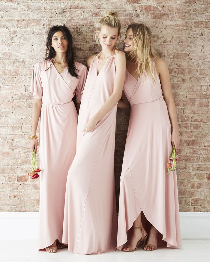 twobirds Bridesmaid unveils Party Collection | Pastel pink maxi bridesmaids' dresses | weddingsite.co.uk