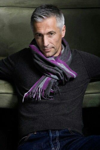 Handsome Grey Haired Man.