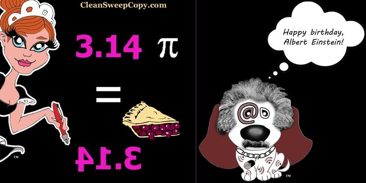 How cool is this? The mirror image of pi spells PIE ... and March 14 is Einstein's birthday!