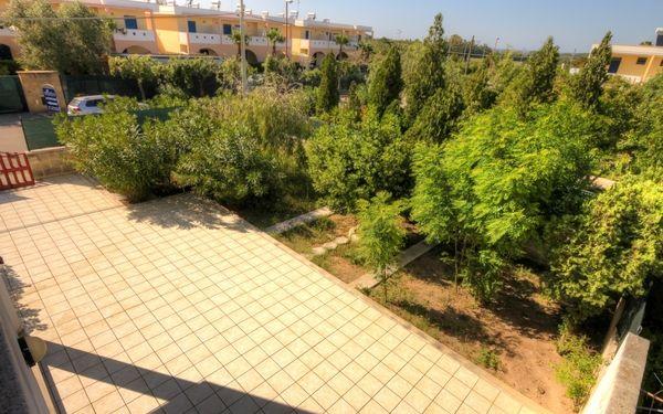vista giardino con sullo sfondo il Residence Oasi Salento