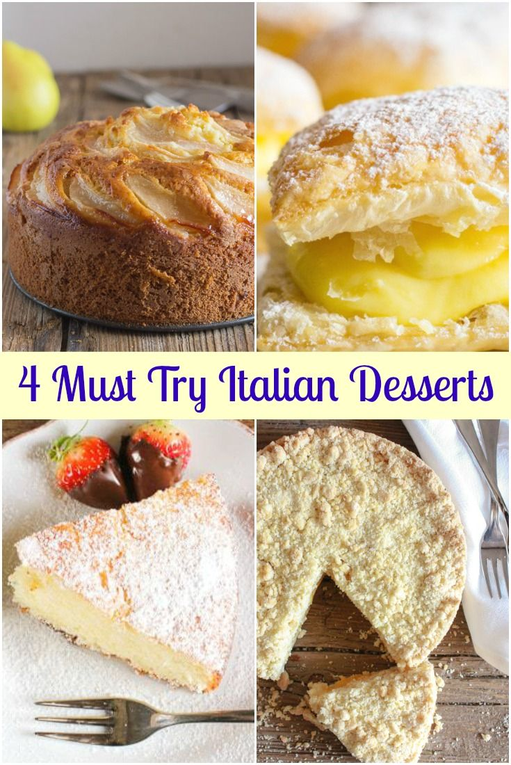 Must Try Italian Desserts 4 Of My Most Popular Italian Dessert Recipes Fast Easy And Del Italian Recipes Dessert Dessert Recipes Authentic Italian Desserts
