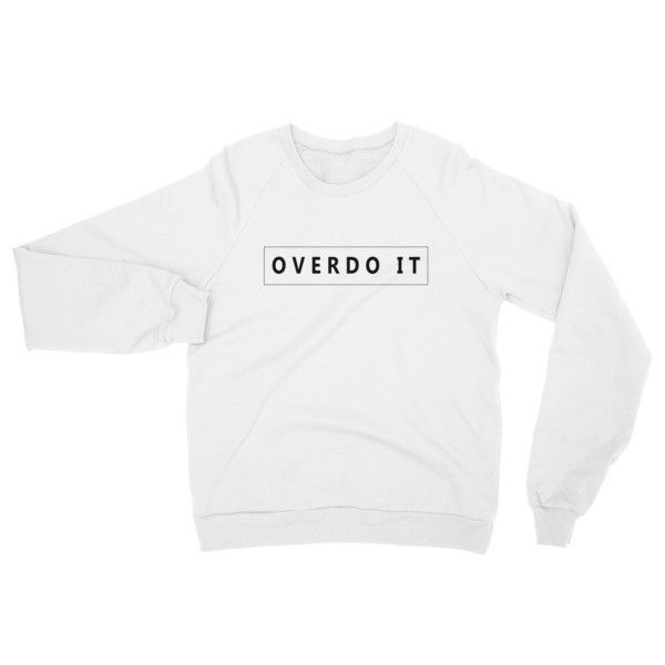 For the overachievers. Unisex sizing crew neck sweater made out of super soft…