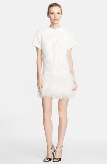 Robert Rodriguez Feather Skirt Drop Waist Dress available at #Nordstrom