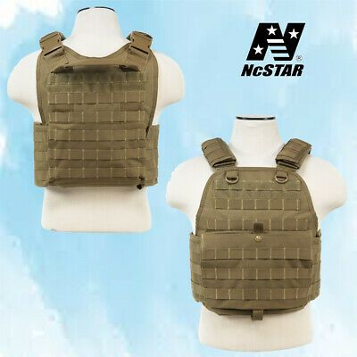 NcSTAR Airsoft Tactical Plate Carrier Vest TAN PALS Webbing CVPCV2924T