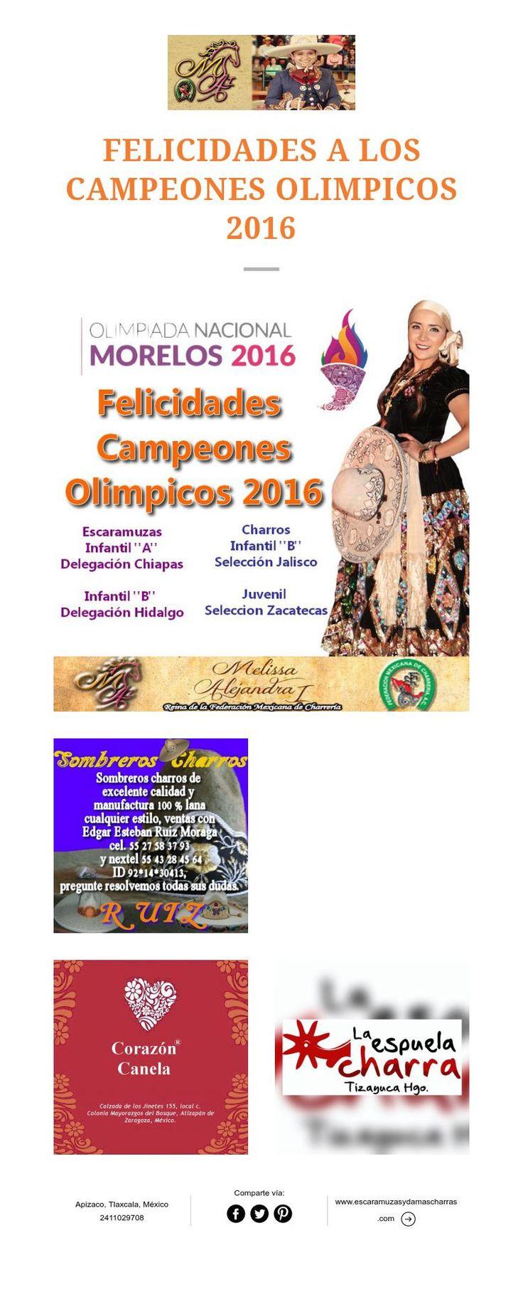 FELICIDADES A LOS CAMPEONES OLIMPICOS 2016
