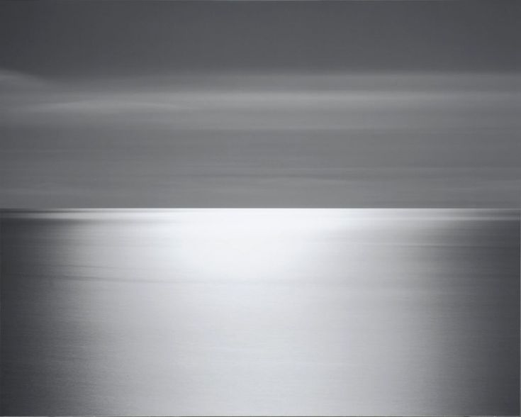 One of Hiroshi Sugimoto's breathtaking sea photographs