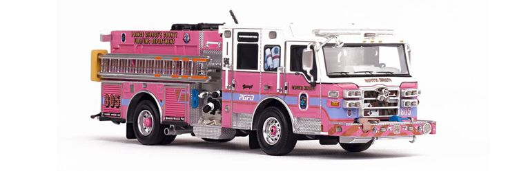 """PRINCE GEORGE'S COUNTY FIRE/EMS DEPARTMENT """"COURAGE"""" ENGINE 805 MUSEUM GRADE SCALE MODEL"""