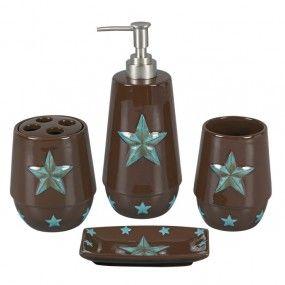 Turquoise Western Bathroom Set