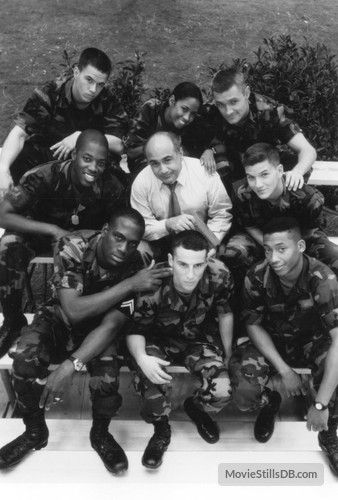 Renaissance Man - Promo shot of Mark Wahlberg, Danny DeVito, Richard T. Jones, Khalil Kain, Kadeem Hardison, Stacey Dash, Lillo Brancato & Gregory Sporleder