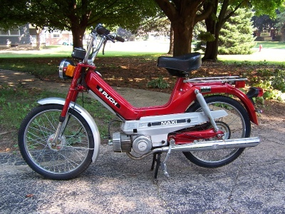 A Puch Maxi. This (or one exactly like it) was my transportation as of age 16.