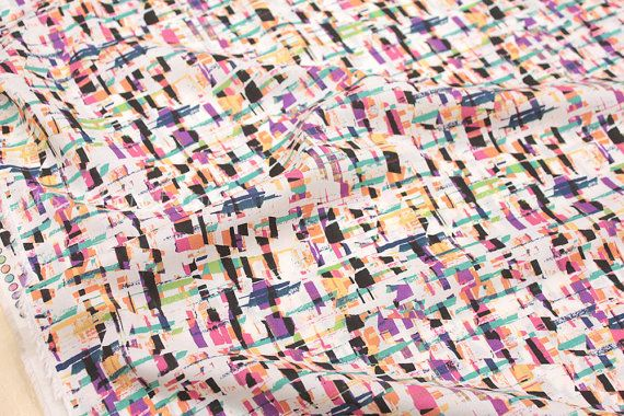 Japanese Fabric Graphic Print  cotton lawn  pink by MissMatatabi