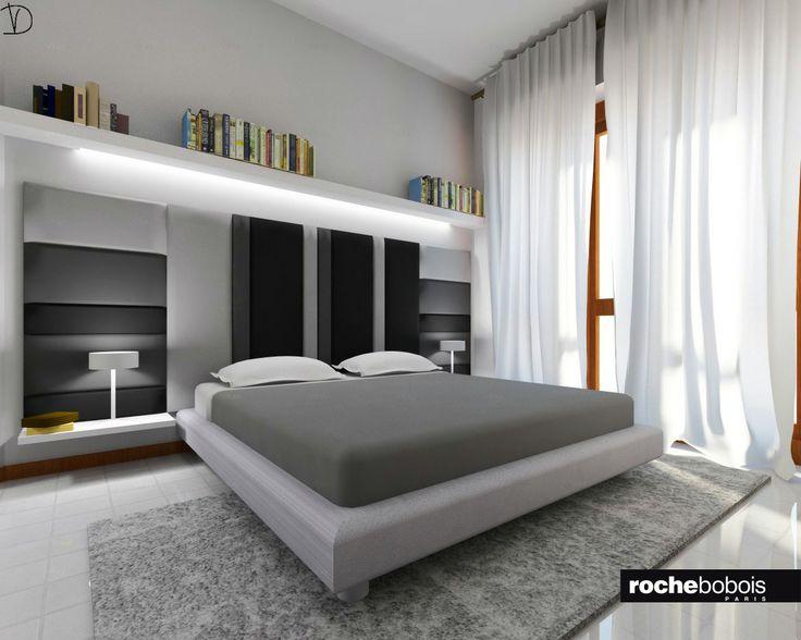 Camera da letto matrimoniale bianca design casa creativa for Piani casa 6 camere da letto