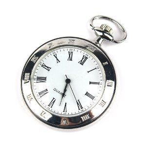 New Mens Stainless Steel Case White Dial Roman Numbers Modern Pocket Watch With Gift Box PW025 Armel. $19.99