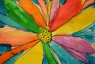 A great activity for class or home - kid's versions of Georgia O'Keefe paintings.