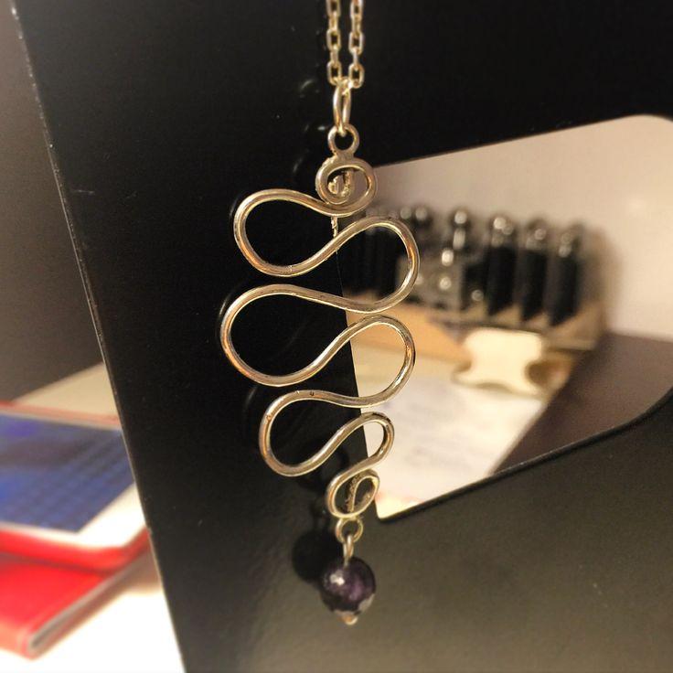 Gümüş tasarım elyapımı kolye ucu