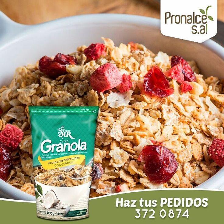 La #GranolaPronalce es una deliciosa combinación de cereales de grano entero, frutos secos y frutos rojos deshidratados. Ideales para una dieta balanceada y el buen funcionamiento del organismo.    #Pronalce #Avena #Wheat #Trigo #Cereal #Granola #Fit #Oats #ComidaSaludable #Yummy #Delicious #Tasty #Instagood #Delicioso #Sano #HealthyFood #Breakfast #Protein #Nutrición #Cereales