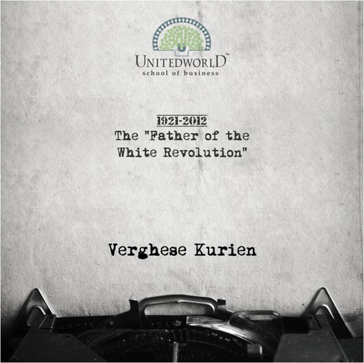 Kurien planned and implemented Operation Flood the worlds largest agricultural development program which turned India into the worlds largest milk producer. His birth anniversary is now celebrated as National Milk Day in respect of his great achievements.   #KU #UWSB #LearnFromBest #SuccessfulEntrepreneurs