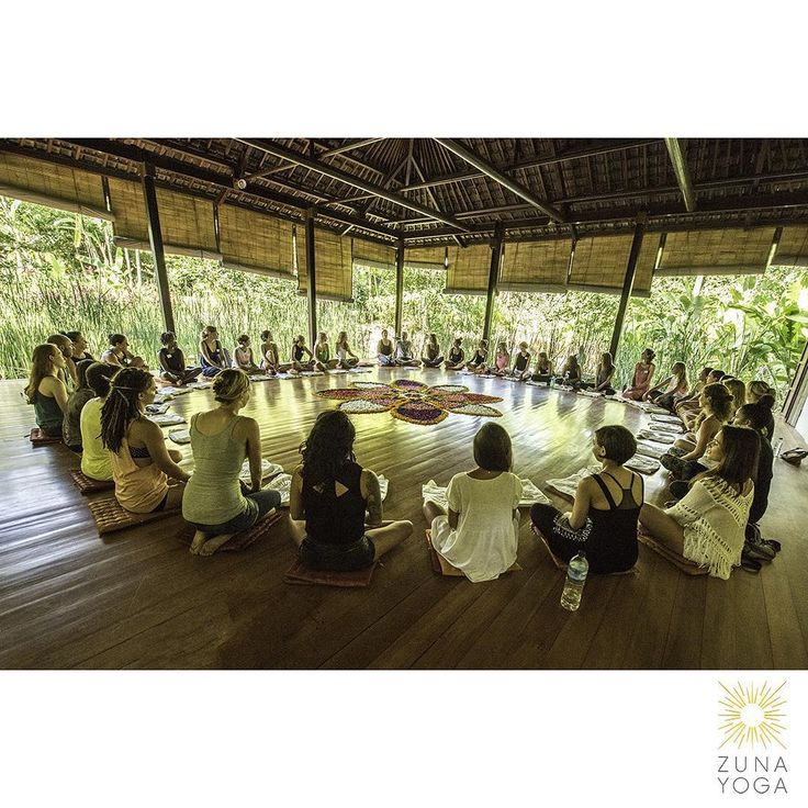 Zuna yoga teacher training Bali opening circle.