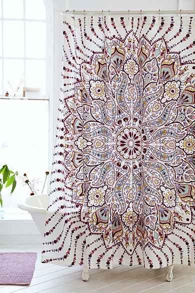 Plum & Bow Lalita Medallion Shower Curtain; urban outfitters