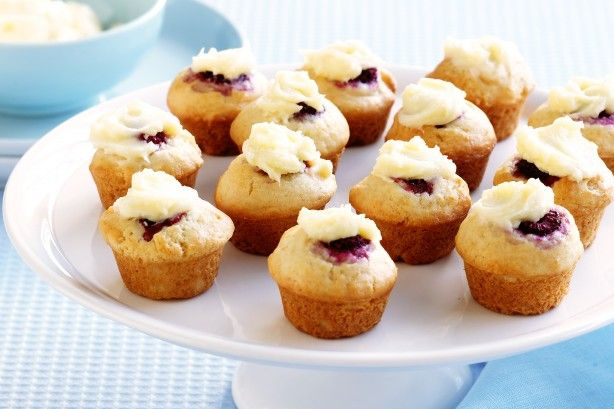 These creamy and zingy mini muffins make a mouth-watering snack.