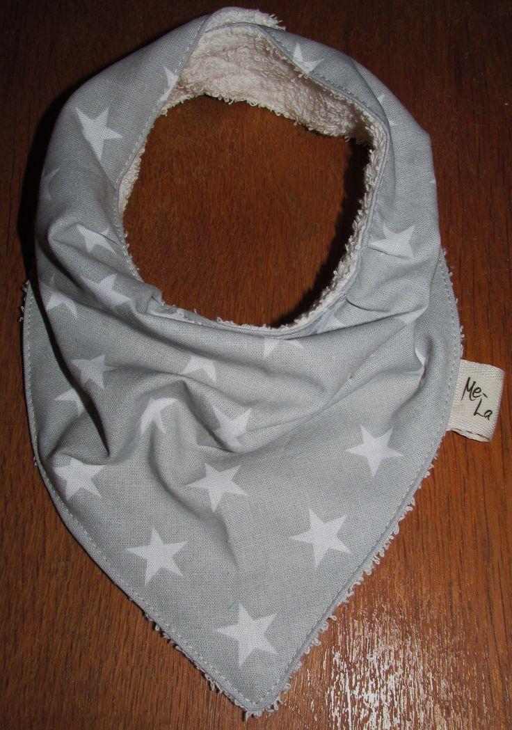 Grey star bandanna bib