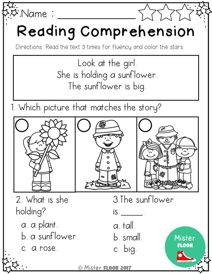 Kindergarten Reading Comprehension (Fall) Reading