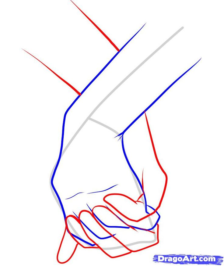 How To Draw Holding Hands Step 10