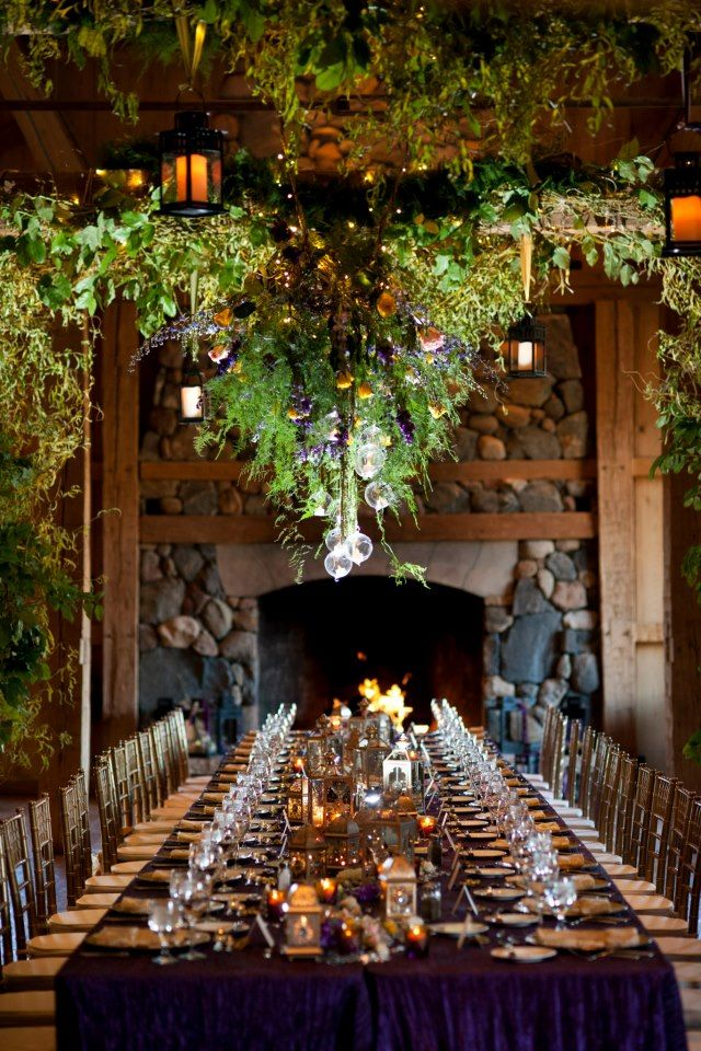Jan and lances devils thumb ranch horseback wedding for Decorations for weddings at home