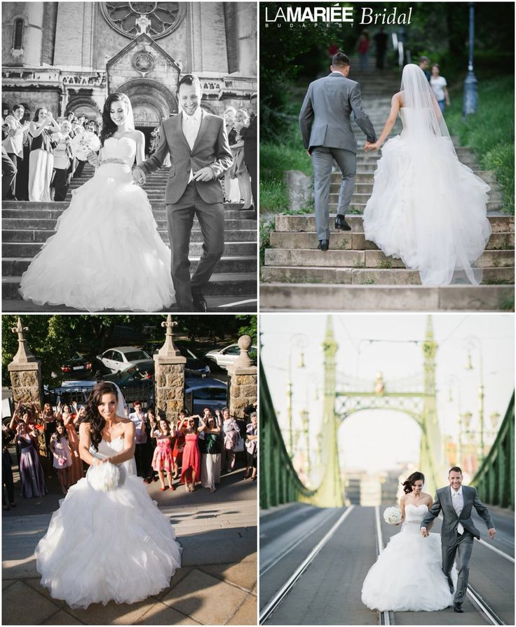 Krisztina bride by La Mariée Budapest bridal  #Benicarlo dress by Pronovias