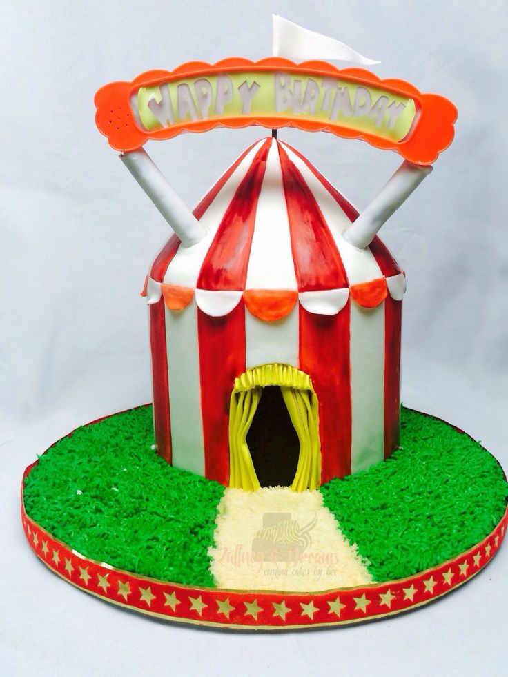 Big Top! Happy Birthday sign supplied by client.