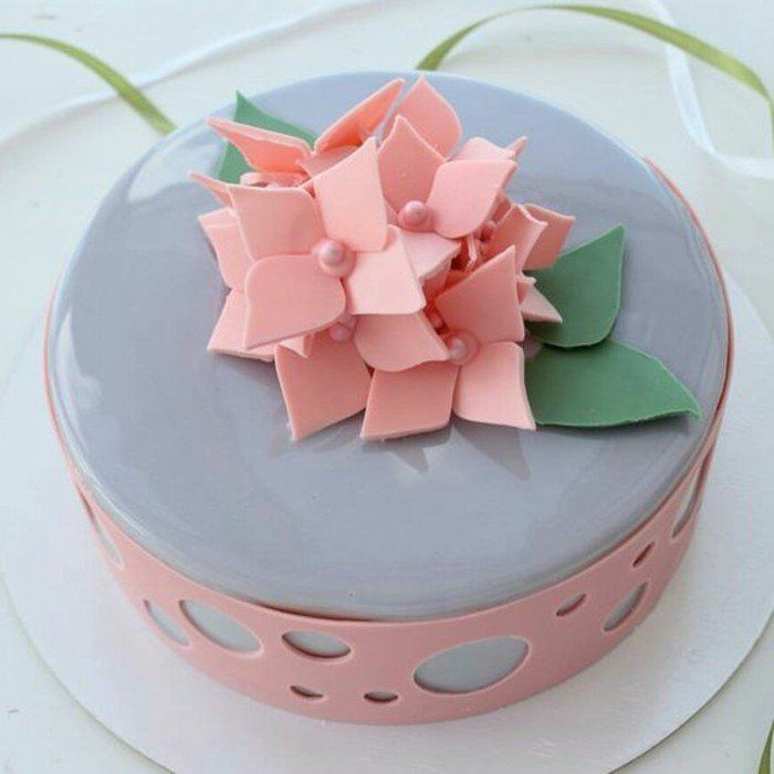 70 best glass mirror cake images on pinterest desserts for Glacage miroir rose