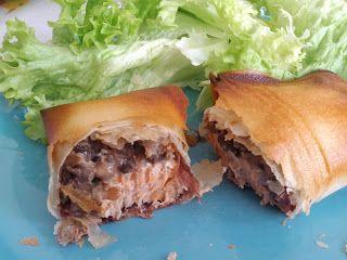 Cuisine, médecine, et toute cette sorte de choses: Croustillant saumon et viande des Grisons, duxelle de champignons au Porto