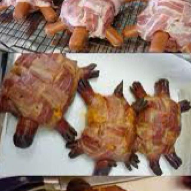 Turtle Bacon Hot Dog Burger