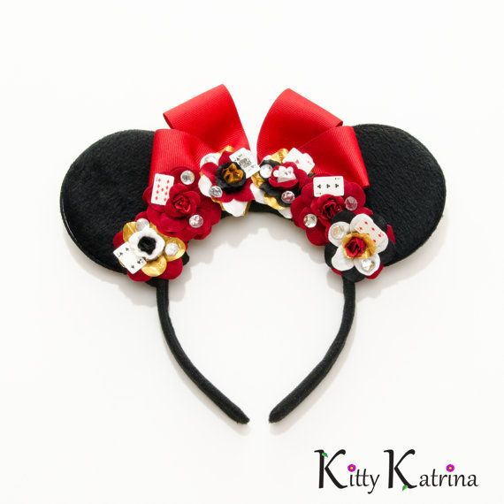 Queen of Hearts Mouse Ears Headband Queen of by LUVKittyKatrina