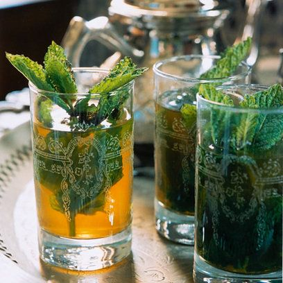 Moroccan mint tea - recipe Mint tea is Morocco's staple drink, found on every street corner and café being poured out of a silver jug into tea glasses. To give it that authentic citrus flavor, the secret ingredient is dried verbena leaves.