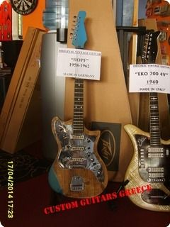 this guitar's body, was deformed by lying over 20 years in a case, after plained the top of the body, everything seems in good playable condition. A special mark are the pickups, very rare on