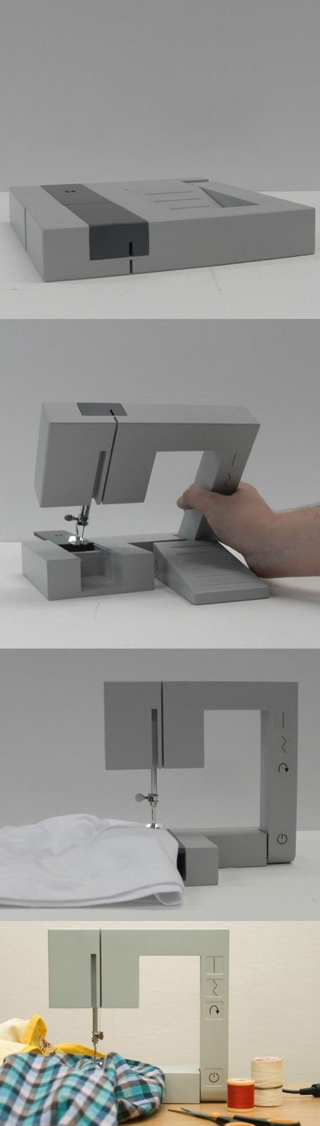 Folding sewing machine design concept #product_design