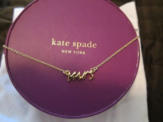 "Kate Spade,""Mrs"" necklace, yes please!"