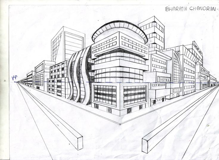 Perspective Drawings Of Buildings 43 best 2 point perspective images on pinterest | art lessons