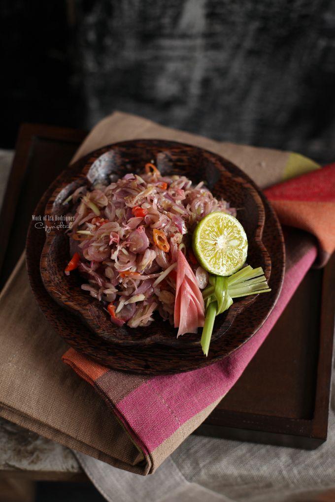 Sambal Matah (a Balinese spicy condiment) - shallots, ginger, lemongrass,  bird. Indonesian CuisineFood ...